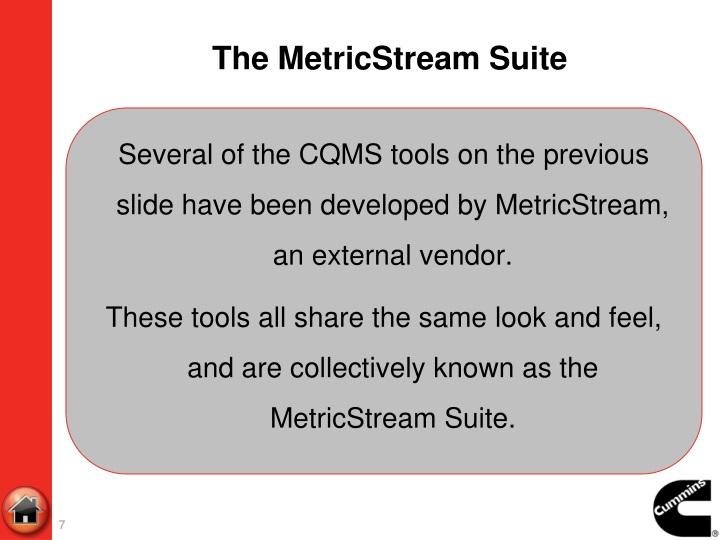 The MetricStream Suite