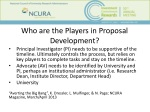 who are the players in proposal development