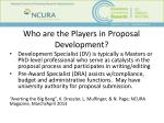 who are the players in proposal development1