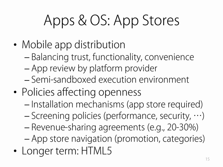 Apps & OS: App Stores