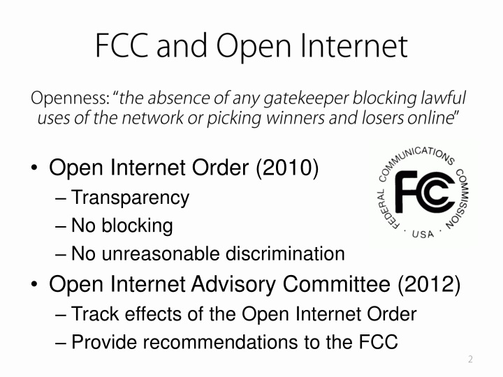FCC and Open Internet
