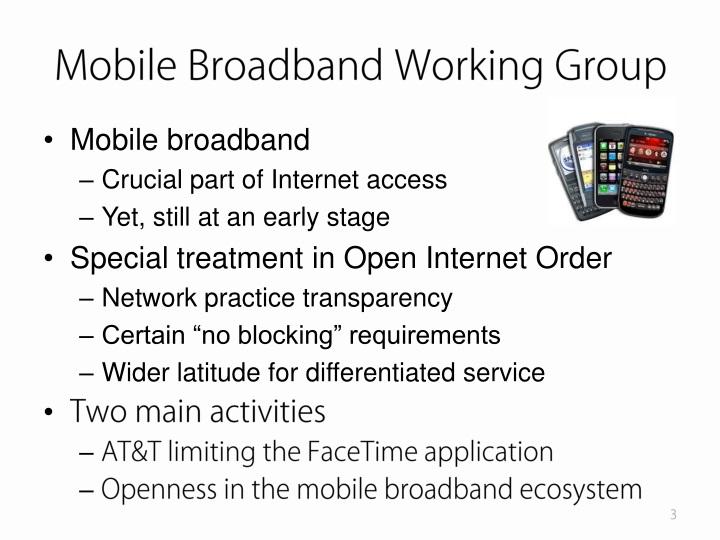 Mobile Broadband Working Group