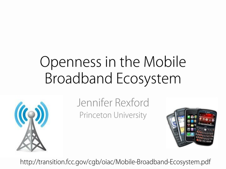 Openness in the Mobile Broadband Ecosystem