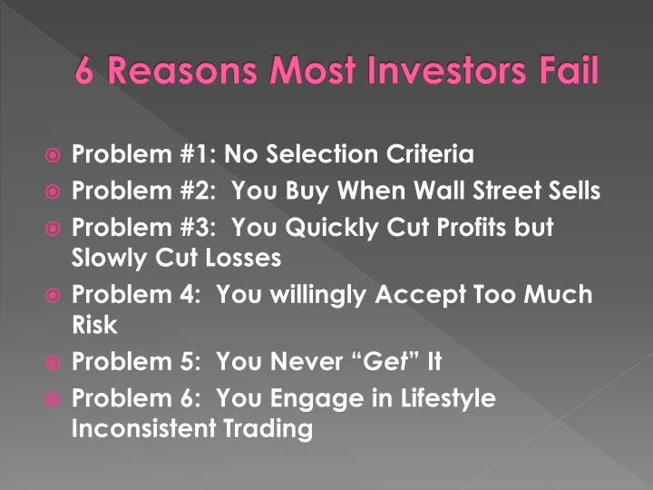 6 Reasons Most Investors Fail