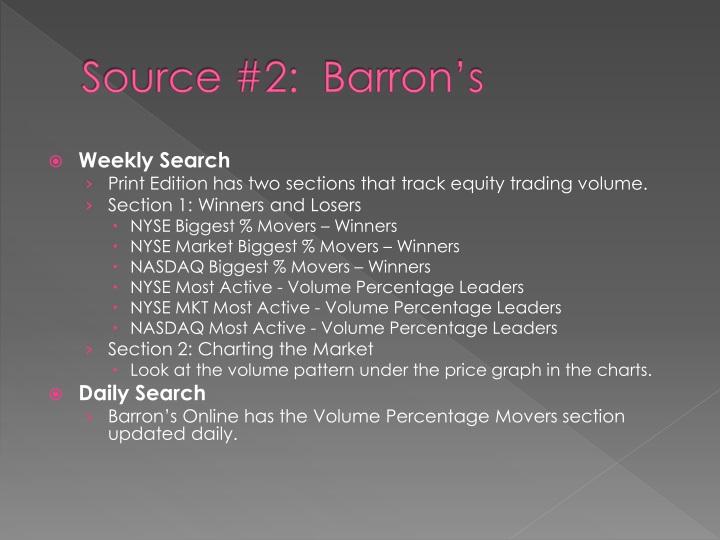 Source #2:  Barron's