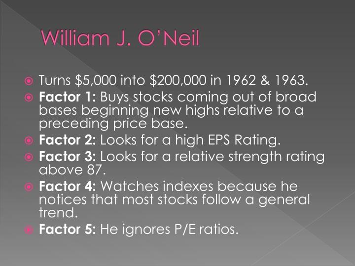 William J. O'Neil