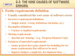 2 3 the nine causes of software errors