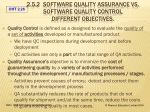 2 5 2 software quality assurance vs software quality control different objectives