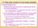 the nine causes of software errors2