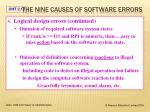 the nine causes of software errors3