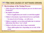the nine causes of software errors6