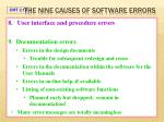 the nine causes of software errors7