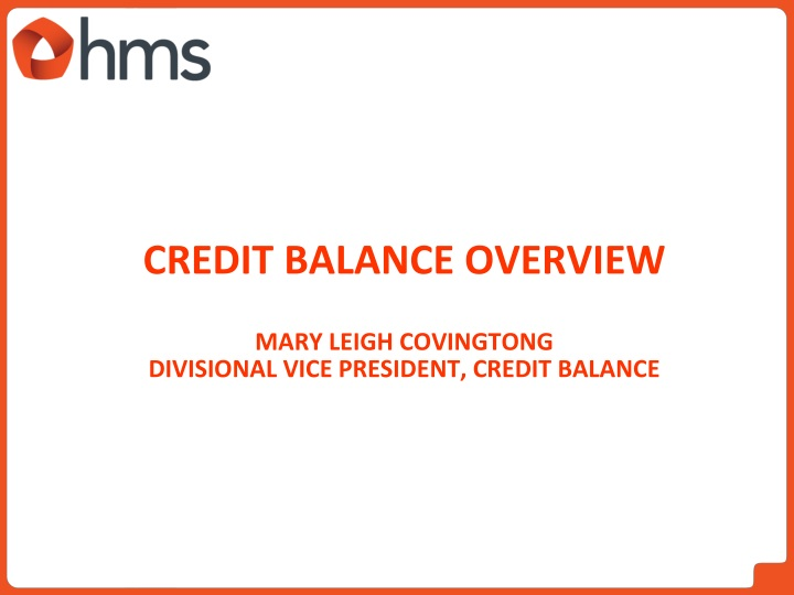 Credit Balance overview