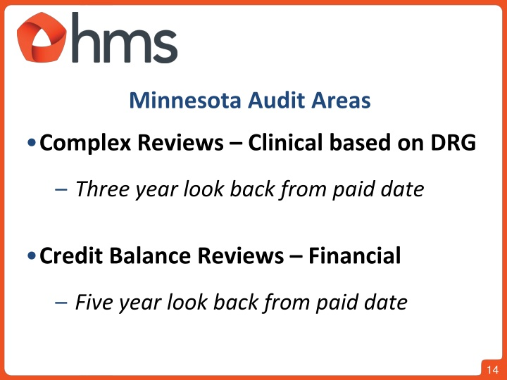 Minnesota Audit Areas