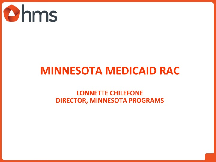 Minnesota Medicaid RAC
