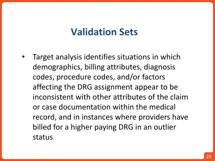 Validation Sets