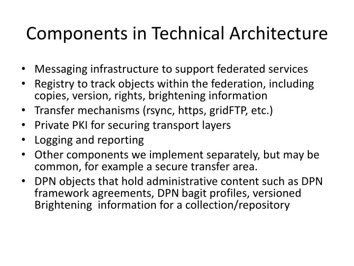 Components in Technical Architecture