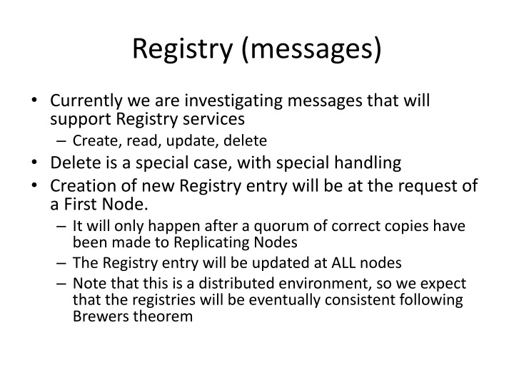 Registry (messages)