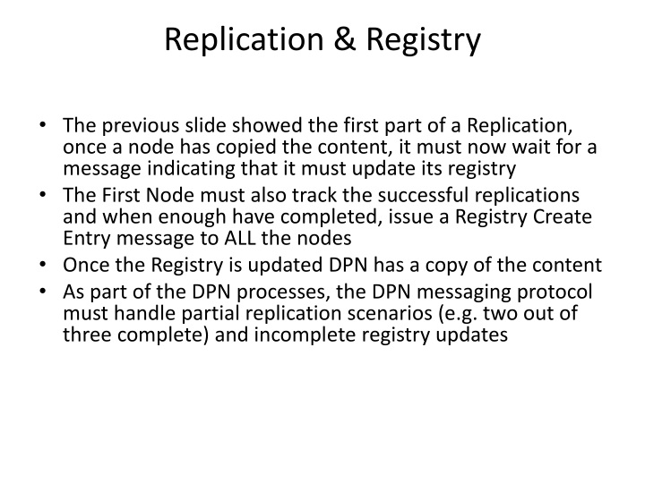 Replication & Registry