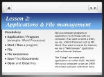 lesson 2 applications file management