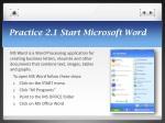 practice 2 1 start microsoft word