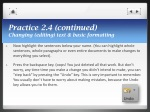 practice 2 4 continued changing editing text basic formatting