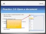 practice 2 6 open a document