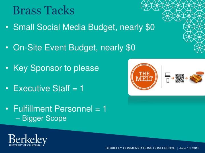 Small Social Media Budget, nearly $0
