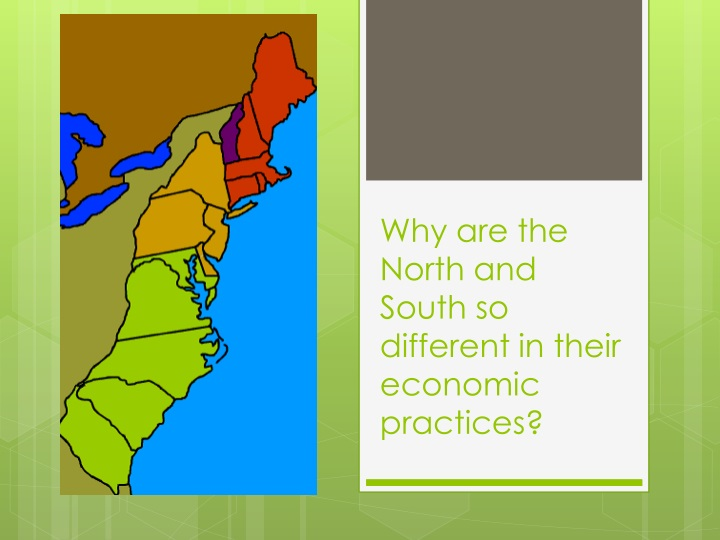 Why are the north and south so different in their economic practices