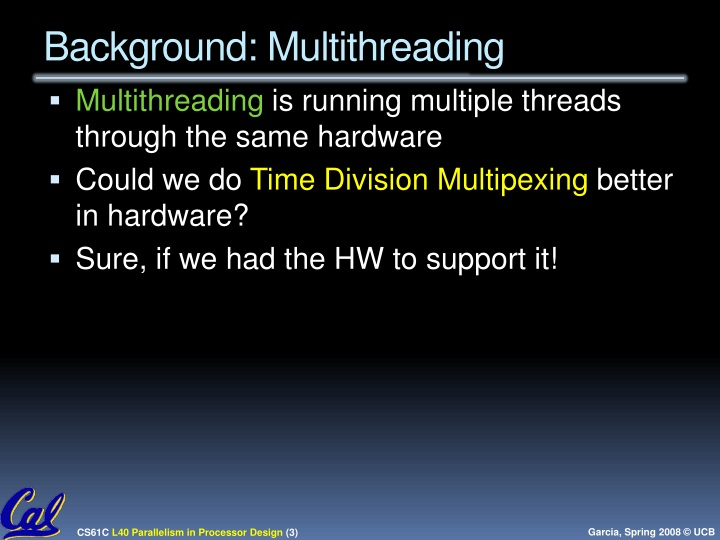 Background: Multithreading