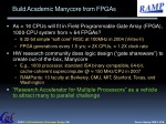 build academic manycore from fpgas