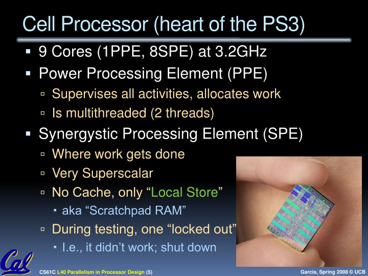Cell Processor (heart of the PS3)