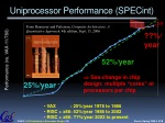 uniprocessor performance specint
