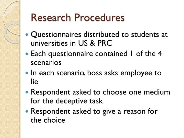 Research Procedures