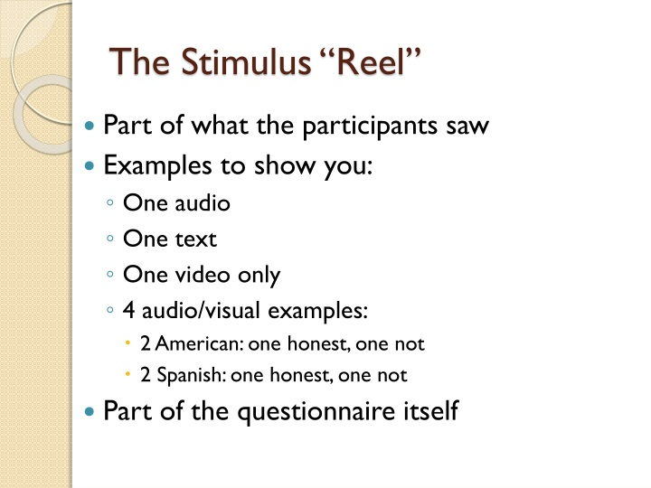 "The Stimulus ""Reel"""