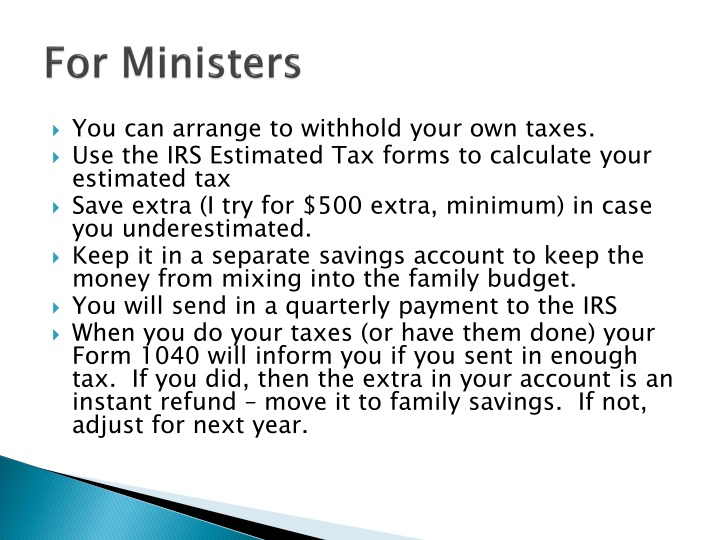 For Ministers