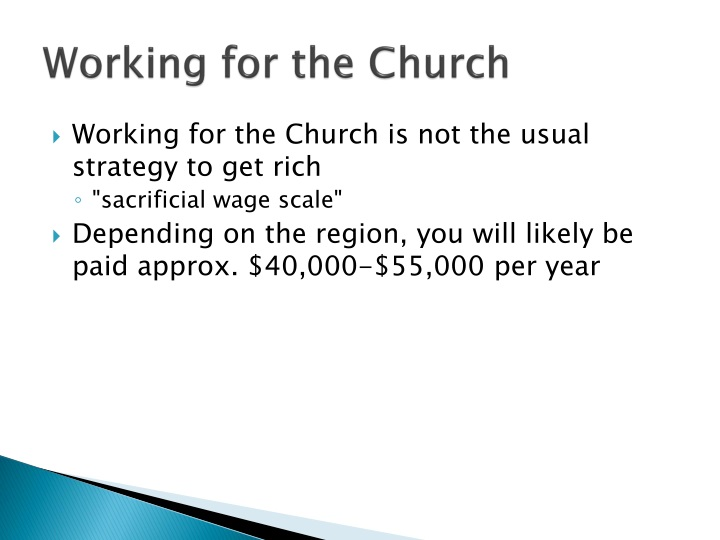 Working for the Church