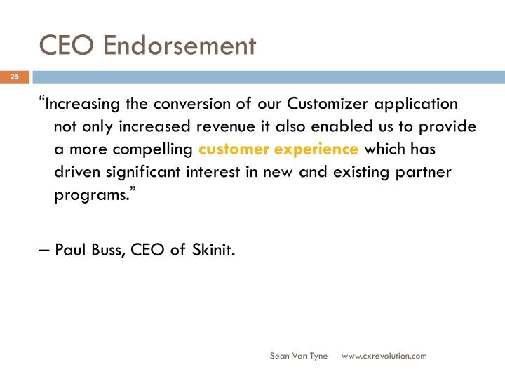 CEO Endorsement