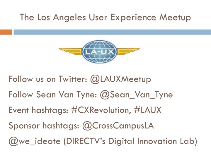 The Los Angeles User Experience Meetup