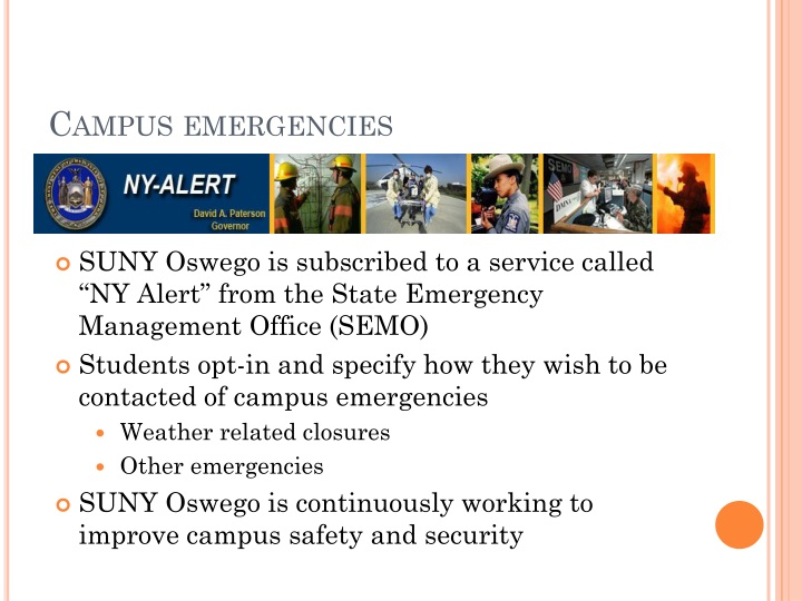 Campus emergencies