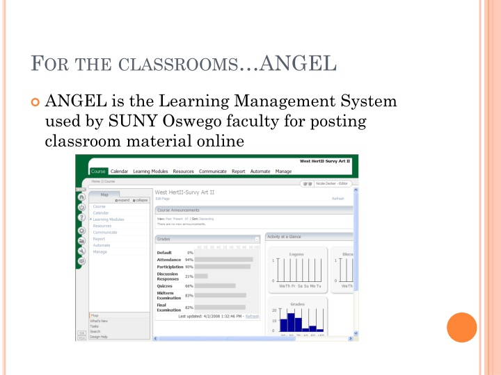 For the classrooms…ANGEL