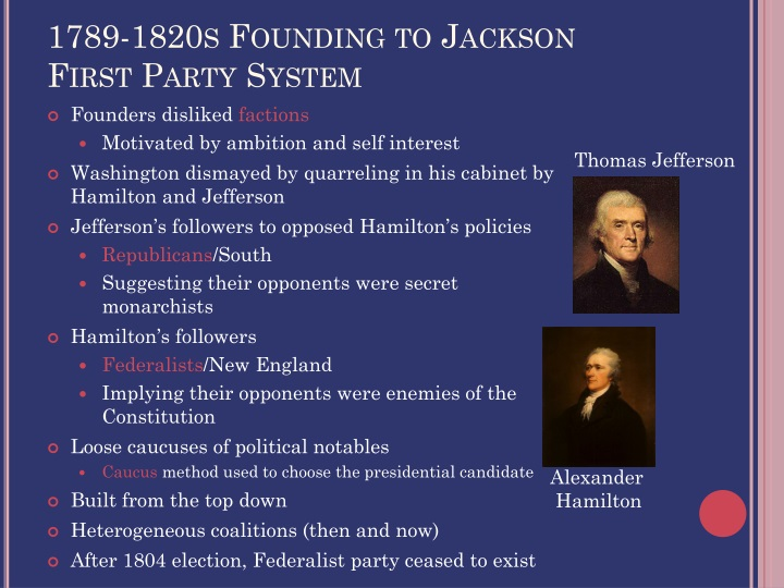1789-1820s Founding to Jackson