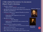 1789 1820s founding to jackson first party system