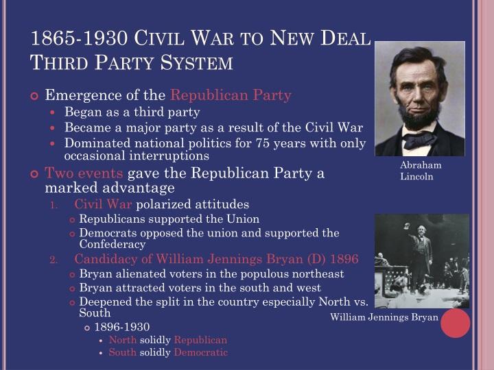 1865-1930 Civil War to New Deal