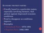 economic protest parties