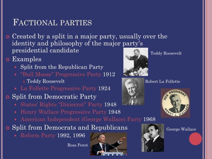 Factional parties