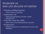 overview of rise and decline of parties