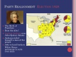 party realignment election 1828