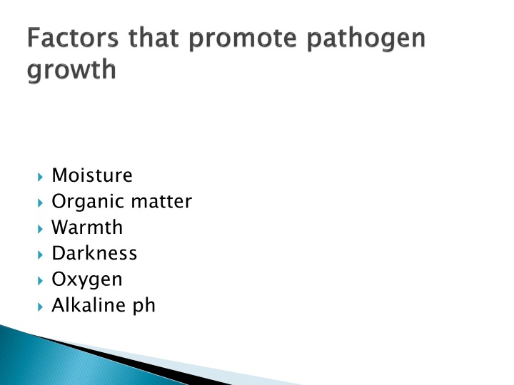 Factors that promote pathogen growth