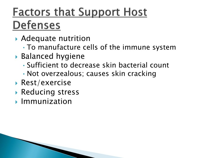 Factors that Support Host Defenses